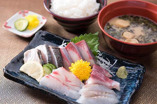 上関海峡 刺身定食